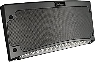 KING RVM2001 Premium Bluetooth Outdoor Speaker with Multi-Color LED Light and App Control - Black