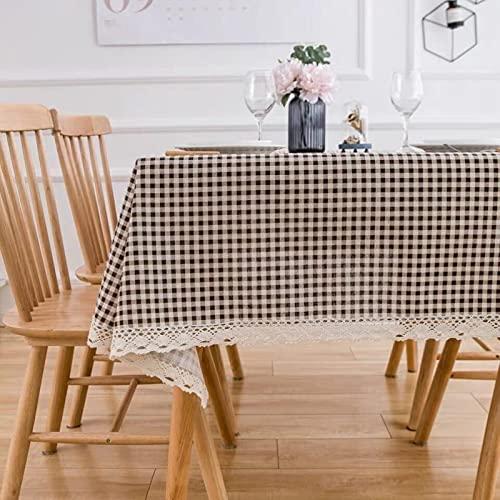 sans_marque Mantel de mesa, cubierta de mesa, adecuado para mesa de buffet, fiesta, cena de vacaciones, mantel, 140 x 140 cm