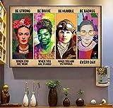 Póster feminista Be Strong Be Brave Be Humble Be Badass Ruth Bader para decoración de pared, póster de metal, 20,3 x 30,5 cm
