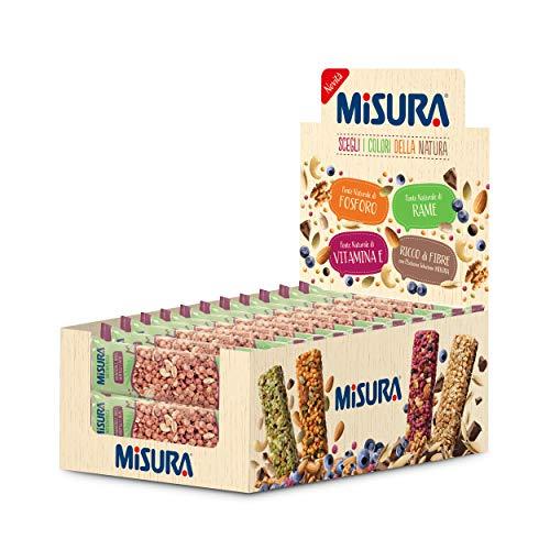 Misura Snack Cereali Natura Ricca   Barrette Cereali, Mandorle, Noci, Mirtilli e Acai   Confezione da 330g