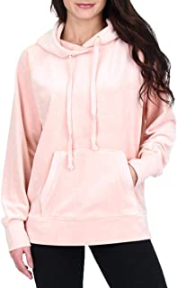 Black Label Womens Luxe Velour Hooded Pullover Jacket