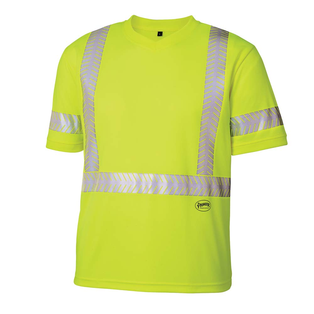 Pioneer Choice Hi Vis Safety T Shirt ANSI Men for Reflective Tape Now free shipping -