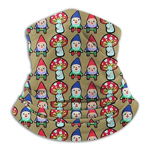 Simple Love Av Gnome Mushroom Mash Seaml Bandanas Gesichtsmaske Stirnband Schal Headwrap Neckwarmer für Outdoor-Raves Sportmusikfestivals