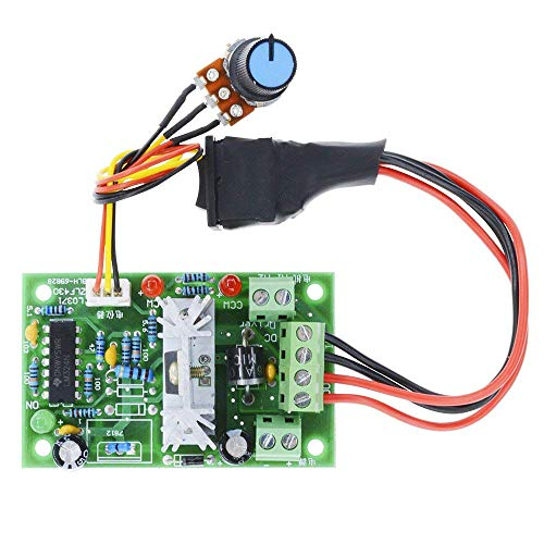 DC Motor Speed Controller, Aideepen 6-30V 80W 6A Motor Control High Torque Adjustable 6V 12V 24V PWM Variable Speed Regulator with Reversible Control Switch Potentiometer
