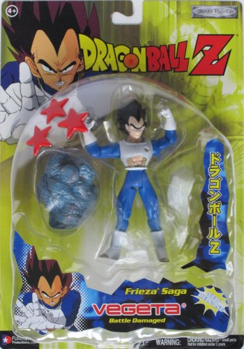 Dragonball Z 5' BATTLE DAMAGED VEGETA (FRIEZA'S SAGA) Action Figure - DBZ SERIES 15 - JAKKS