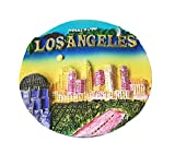 Hollywood Los Angeles 3D Refrigerator Magnet Sticker,Famous Tourist Souvenirs,Resin Home and Kitchen Decoration USA Fridge Magnet