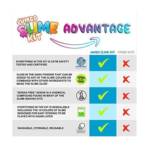 DIY Slime Kit Toy for Kids Girls Boys Ages 5-12, Glow in The Dark Glitter Slime Making Kit - Slime Supplies w/ Foam… 4