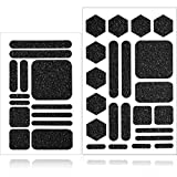 2 Pieces Cell Phone Grip Decal Tape Stickers, Non-Slip Cell Phone Grip Decal Tapes, Rubber Textured Grip for Phone Mouse Laptop Computer Keyboard Crafting Sewing