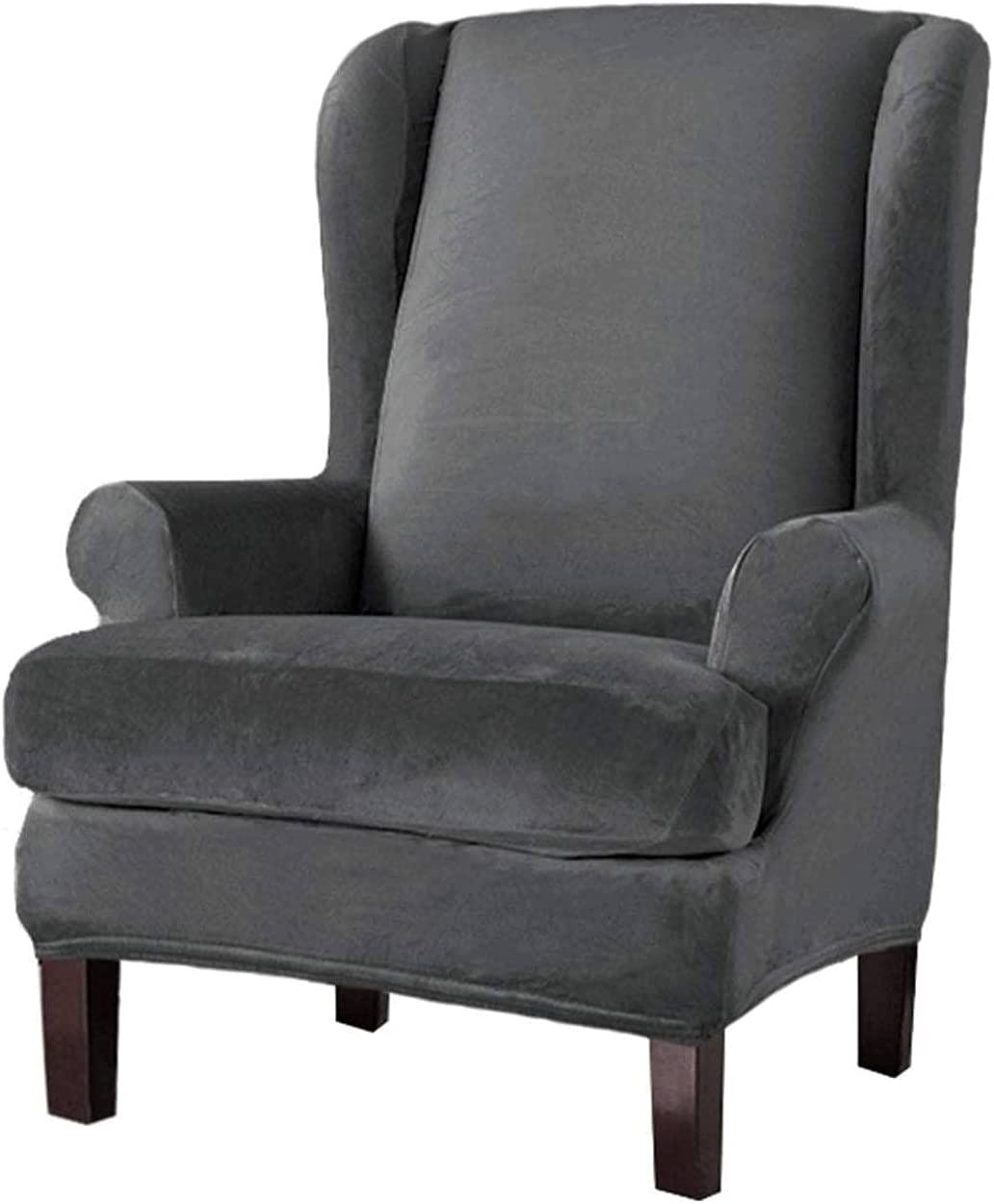 Velvet Wing Special price Chair Slipcover Wingback Max 81% OFF 2 Pieces Covers