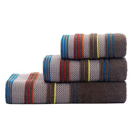 PrittUHU 100% algodón Conjunto de Toallas de baño patrón geométrico Toalla de baño para Adultos Cara de Mano Toallas de Mano Terry toalth Toalla Deportiva (Color : 11, Size : 1pc)