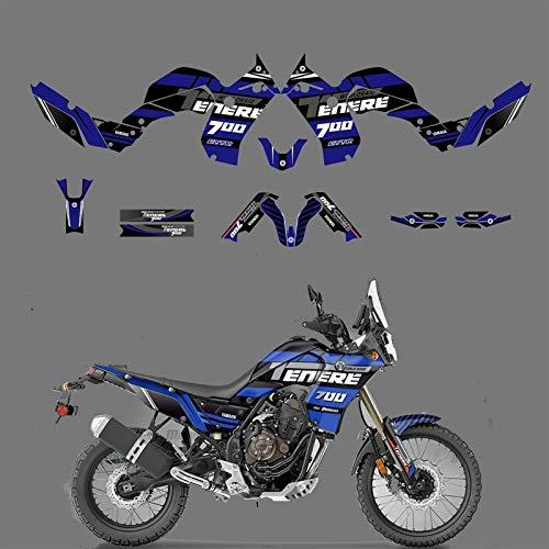 Kit de Etiqueta de calcomanías de gráficos de Motocicleta para Yamaha Tenere 700 T7 2019 2020 2021 Pegatinas de Motocicleta (Color : Blank)