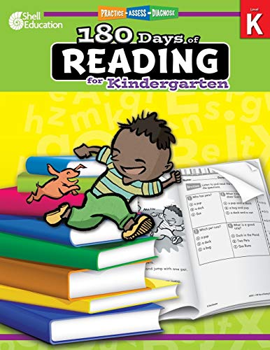 180 Days of Reading for Kindergarten: Practice, Assess, Diagnose (180 Days of Practice)