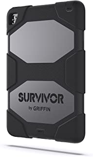 Griffin iPad Pro 9.7-inch Rugged Case, Survivor All-Terrain with Stand, Black - Mil-spec Tested, Real-World Proven Protection.