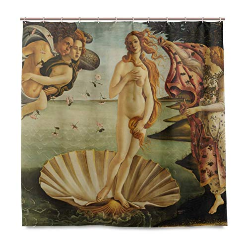 N/A The Birth of Venus Duschvorhang, 183 x 183 cm, mit 12 Haken