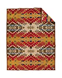 Pendleton Journey West Wool Throw Blanket, Gold, Twin Size