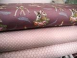 Qjutie Lottashaus No6 Jersey Stoffpaket 3 Stück 50x70cm Bambi REH Rehkitz Altrosa Puder Nude Stoff Stoffe