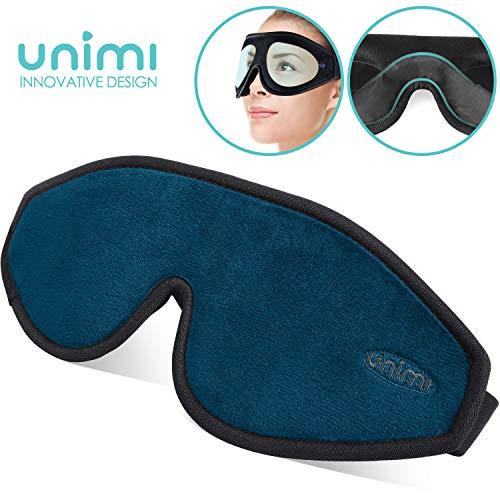 Unimi Augenmaske zum Schlafen, 3D Konturierte Schlafmaske und Augenbinde für Frauen, Männer, Superweich und bequem, 100{cc03b90b5b7e101afc95f0f05a28c6bd6cc20f884bcd42bab35c8b70664f1f2d} Licht blockierend,3D-Augenschutz für Reisen, Schichtarbeit, Nickerchen.