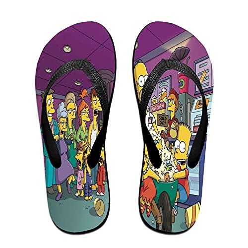 Xiaoxian The Sim-psons 105 - Zapatillas de playa para interiores, color Blanco, talla Small X-ancho