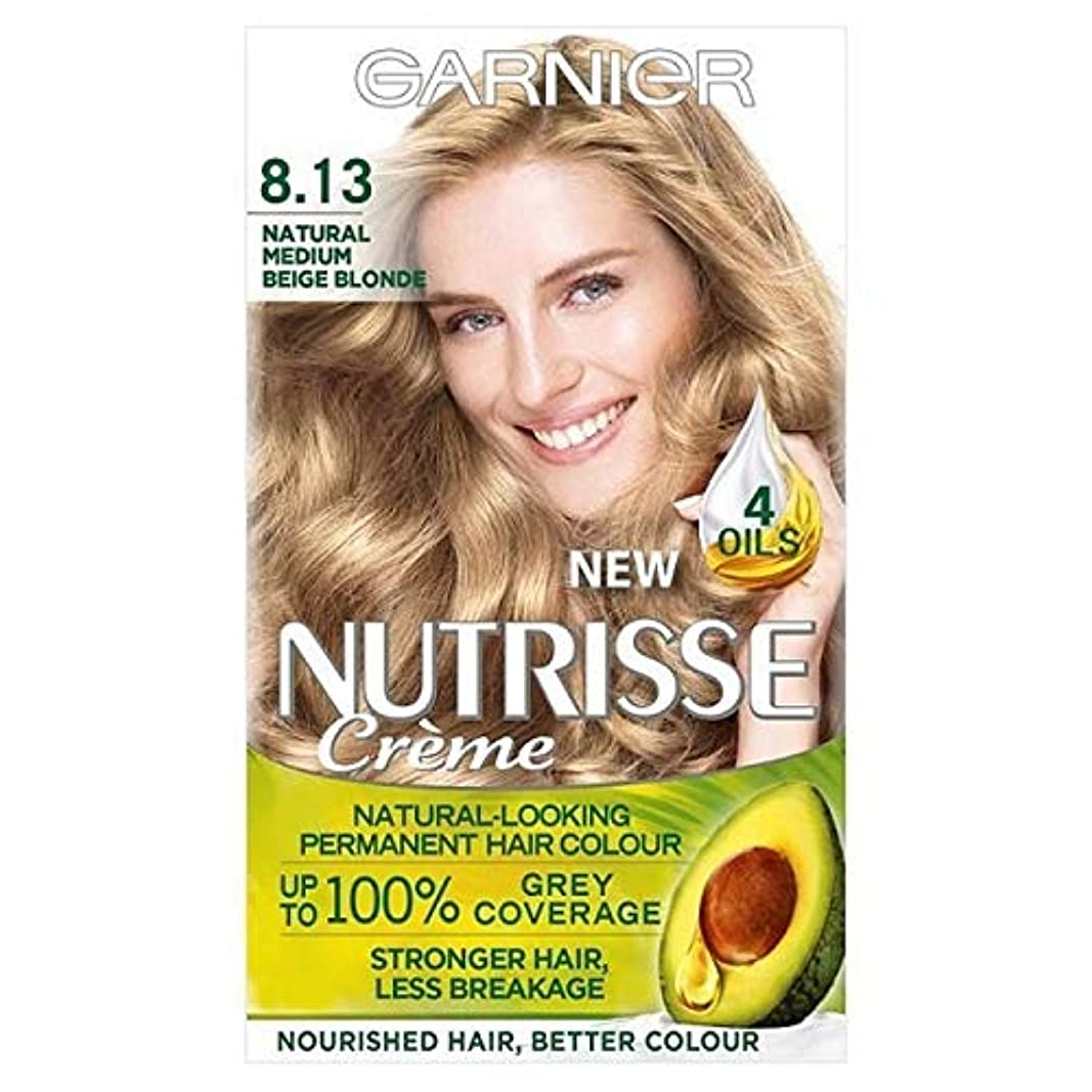 ストリップお風呂を持っているつかいます[Garnier ] ガルニエNutrisse永久染毛剤8.13ブロンドベージュメディア - Garnier Nutrisse Permanent Hair Dye Medium Beige Blonde 8.13 [並行輸入品]