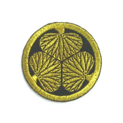 刺繍の家紋ワッペン「徳川家 三つ葉葵」