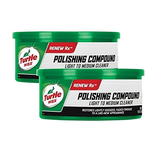 TURTLE WAX Polishing Compound Light to Medium Cleaner 10.5oz 2-pack