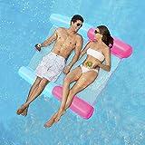 ECtury Aufblasbare Wasserhängematte, 4 in 1 Luftmatratze Pool Schwimmbett mit Netz, Aufblasbare...