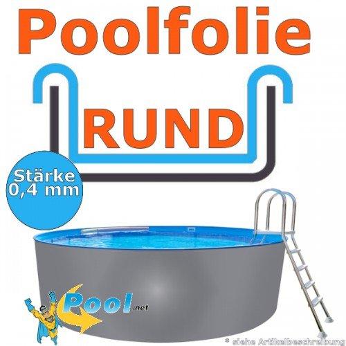Freizeitwelt-Online Poolfolie 4,60 x 0,4 mm 0,90 1,20 1,25 1,35 1,50 m Schwimmbadfolie Innenhülle Auskleidung 4,6 m Ersatzfolie Pool 460 cm Ersatz Innenfolie rund Pools