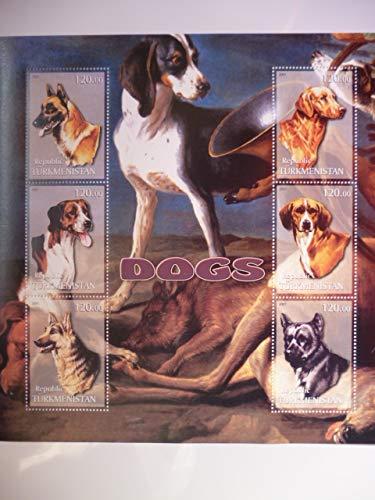トルクメニスタン『犬』大型6枚シート