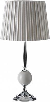 Lola Derek - Lámpara de mesa árabe blanca de metal para salón ...