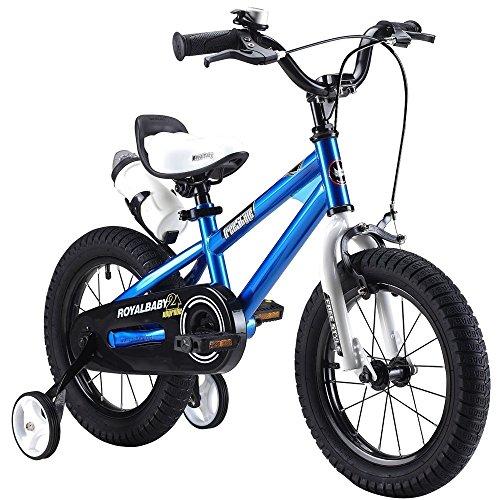 """Bicyclehx Bewegung Offroad Kinder Fahrrad mit Wasserflasche und Halter Royal Baby Kids Bikes mit Stabilisatoren in Größe 12\""""14\"""" 16\""""18\"""" (Color : Blue, Größe : 12 inch)"""