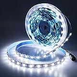 JOYLIT 24V LED Strip Lights White 6000-6500K, 16.4ft/5M Flexible 300 Units SMD5050 LEDs, No-Waterproof High Bright LED Tape Lights