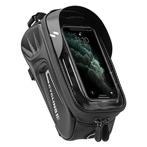 PINKJANE Bolsa de almacenamiento para cuadro de bicicleta, impermeable, para pantalla táctil, para teléfono de 4,7 a 6,4 pulgadas