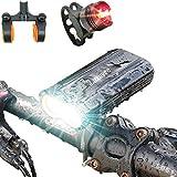 Luxuvee Lumière Vélo LED Rechargeable, Set d'ÉclairageVélo USB Avant et Arrière Ultra Puissant Lumineuses, Lampe Vélo Étanche IP65 pour Cyclysme VTT VTC Bicylette