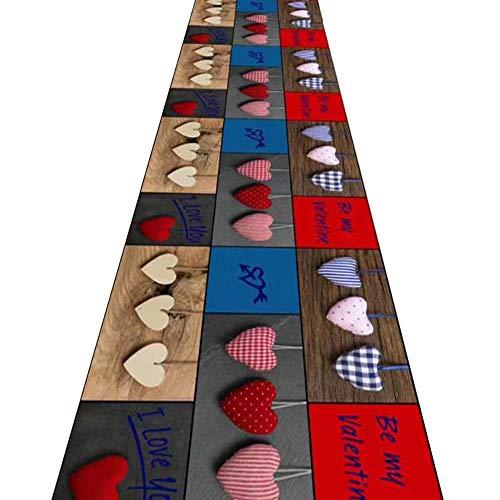ZRUYI lange loper tapijten voor hal gebied tapijten corridor tapijt 3D stereo afdrukken hartvormige stijl van toepassing op slaapkamer nachtkastje Aisle, meerdere maten