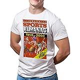 Camiseta Hombre Cine Regreso al Futuro, almanaque de apuestas (Blanco, M)