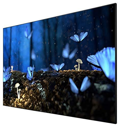 """celexon Heimkino- und Business-Rahmen-Leinwand für Ultra-Kurzdistanz-Projektoren - 100\""""- 220x124cm - hochreflektierend Gain 0,6 - 4K UHD- Active 3D"""