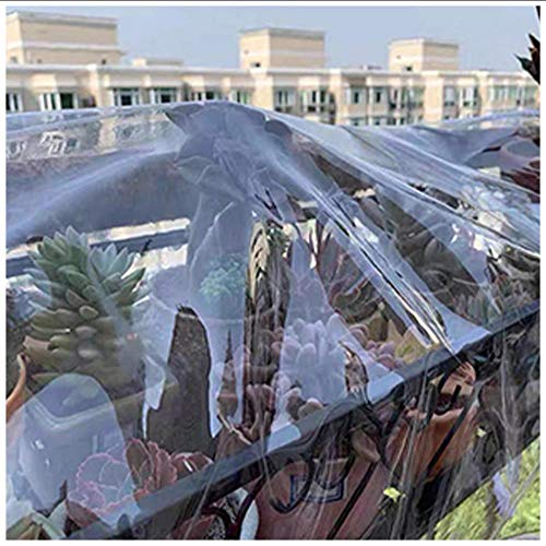 Lona Transparente Impermeable,Plástico Pvc Transparente Lona Con Ojales, Para Madera Techo A Prueba De Humedad, Sin Empalmes, El Tamaño Se Puede Personalizar, 400 G / M²(Talla:1M×2M)
