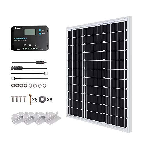 Renogy 50W Solaranlage mit PWM Solarregler für Garten und Camper