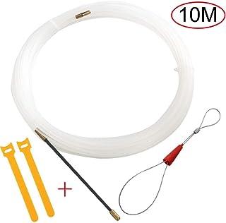 RUNCCI-YUN 10m Guia Pasacables, Kit de Enhebrado de Cables, Electricistas Alambre Threading Dispositivo, Enhebrador de Alambre Electrico