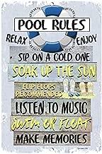 aluminum pool signs