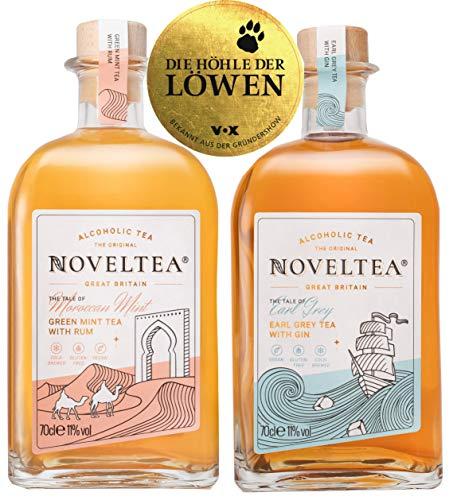 Noveltea: Alkoholischer Tee - 2er Set - The Tale of Earl Grey & Tangier - 2 x 700ml - Die Höhle der Löwen - Rum/Gin - 11% Vol.