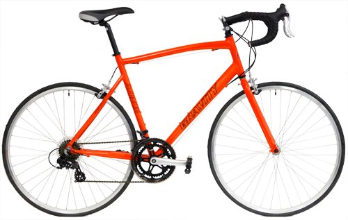 Gravity Ave A Road Bike Shimano 14 Speed Semi-Compact AL Frame Aero Fork (Orange, 43cm)