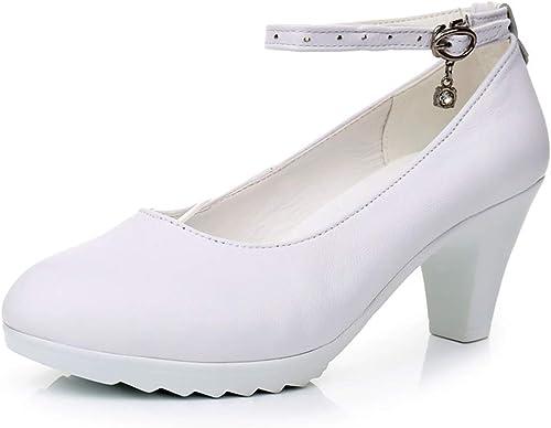 Talons Hauts Professionnels Plateforme De Chaussures Mary Jane Chaussures De Bal Chaussures De Travail Pour Femmes Pompes Lazy chaussures