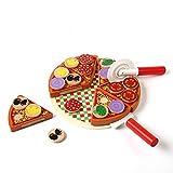NOBRAND Juguete de Cocina Pizza Juguete De Madera Comida Cocina Simulación Vajilla Cocina Infantil Juguete Simulado Fruta Y Verdura Vajilla Jugar Casa Juguete