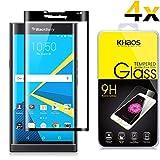 [4-Pack] KHAOS for BlackBerry PRIV 3D Full Cover Tempered Glass Screen Protector for BlackBerry Priv,