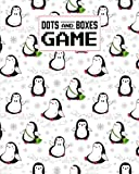 """Dots And Boxes Game: Penguins Dots And Boxes Game, A Classic Strategy Game - Large and Small Playing Squares - Big Book, Dot to Dot Grid, Game of Dots, Boxes, Dot and Line, Pigs in a Pen, 120 Pages, size 8""""x10"""""""