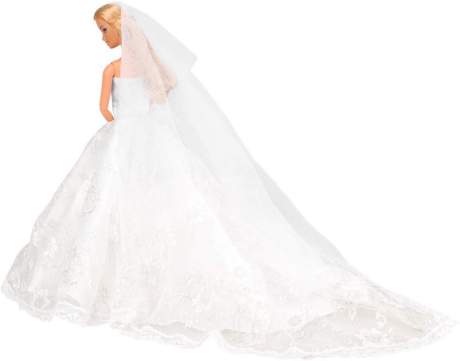 BARWA Wedding Oklahoma City Mall Dress with Veil Party Princess Cloth White Super intense SALE Evening