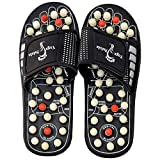 Smart Shop Men's and Women's Acupressure Massage Slippers Leg Foot Massager (Black, Free Size)
