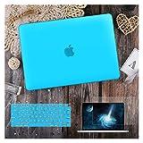 GYY para MacBook Air 11 12 13.3'Cubierta Clara De Cristal para MacBook Air Pro 13 15 16 Touch Barra/Touch ID A2289 A2338 M1 A2159 (Color : Matte Sky Blue, Size : Newest Pro13 A1708)