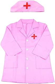 Costume Bambini Medico Dottore Infermiera Ospedale uniforme Ragazzi Ragazze Bambino Costume